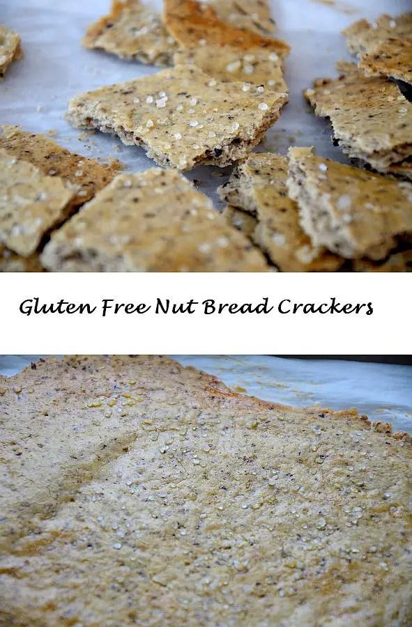 Gluten Free Nut Bread Crackers