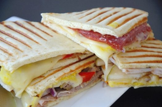 Paninis are a great way to entertain a crowd! Pick an assortment of fillings and condiments and let everyone build their own panini! Works beautifully winter and summer!