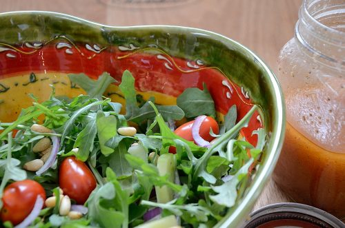 Green Salad with Galyn's House Celery Seed Vinaigrette