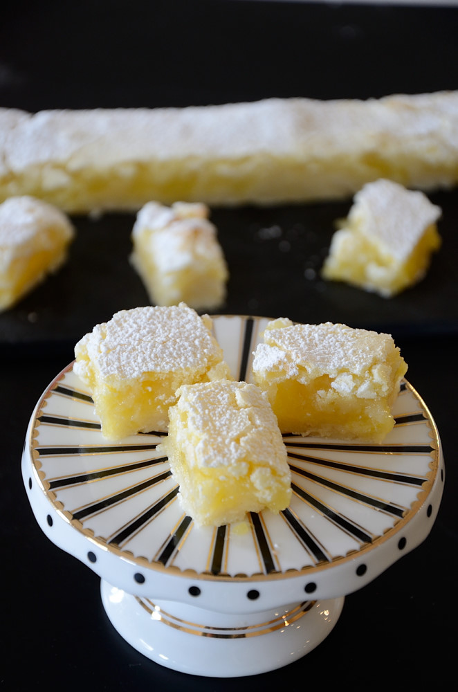 These Lemon Squares are so simple and so good that I used to make them almost once a week when I was a kid.Only 8 ingredients that you probably have on hand!
