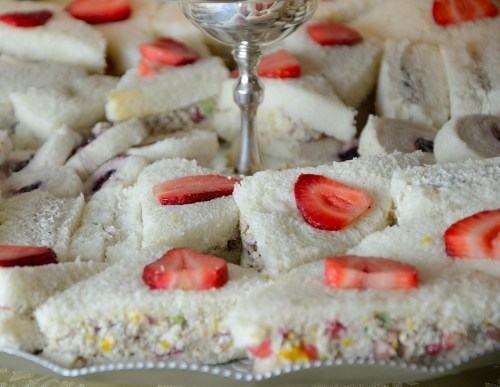 Strawberry Chicken Salad Tea Sandwiches