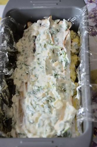 Egg Salad Sandwich Cake Step 2