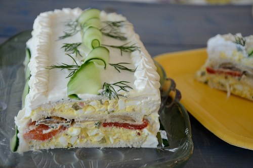 Sliced Sandwich Cake