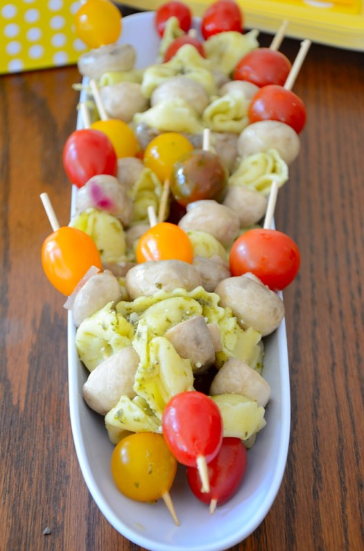 Antipasto Skewers are quick and easy to make but make a substantial appetizer. They are perfect make ahead party or picnic bites.
