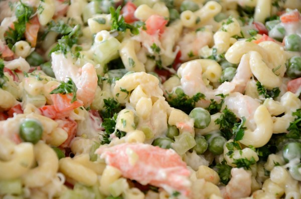 Pasta Salad with Shrimp and Crab