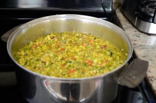 Simmering Zucchini Relish