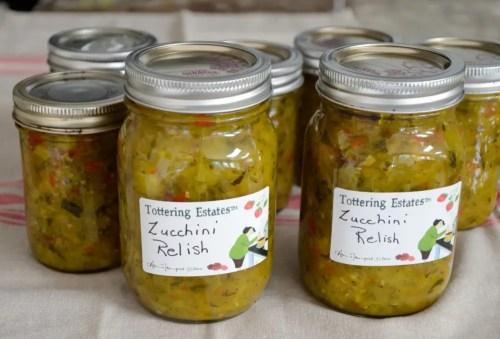 Jarred Zucchini Relish