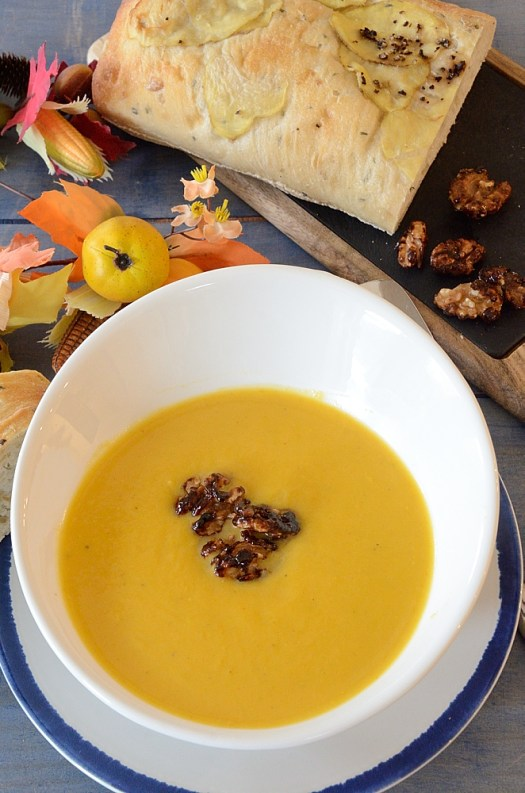 This Butternut Squash and Pear Soup is a time honored recipe that has been gracing our family's Thanksgiving table for years.