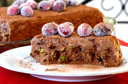 Chocolate Cranberry Semi Freddo