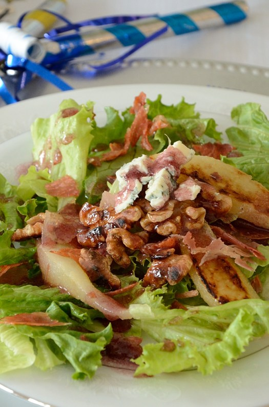 This Grilled Pear Salad with Blue Cheese and Port Vinaigrette is a wonderful winter salad.
