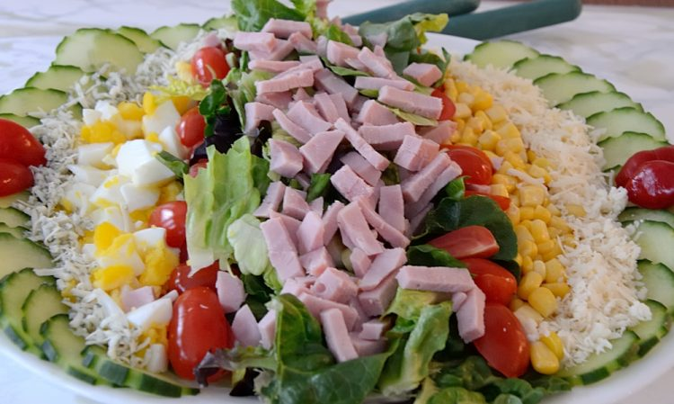 Lined Chef's Salad on a platter