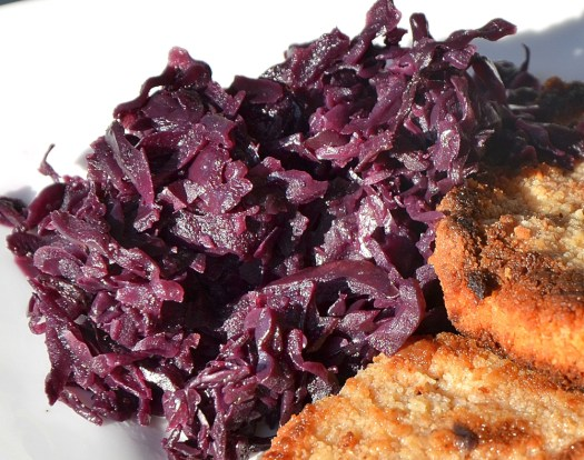 Red Cabbage with Apples and Onions is a sweet/savoury variation of red cabbage.