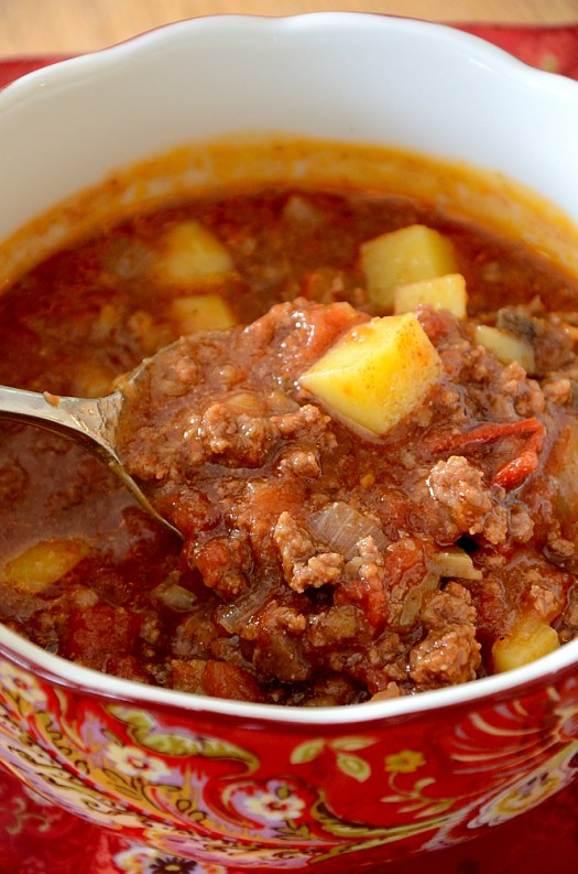 If you need a filling meal with ingredients you probably have on hand this Hamburger Soup will fit the bill.