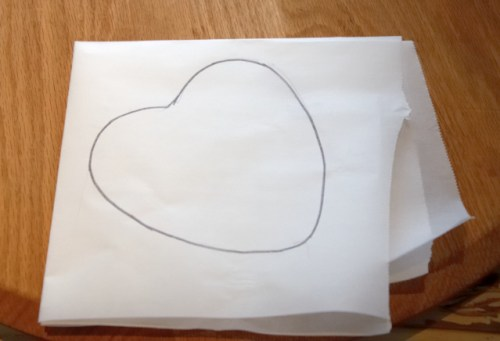 Heart shaped parchment paper liners