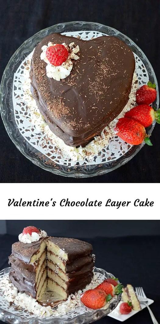 Valentine\'s Chocolate Cake