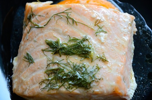 Orange Champagne Salmon en Papillote