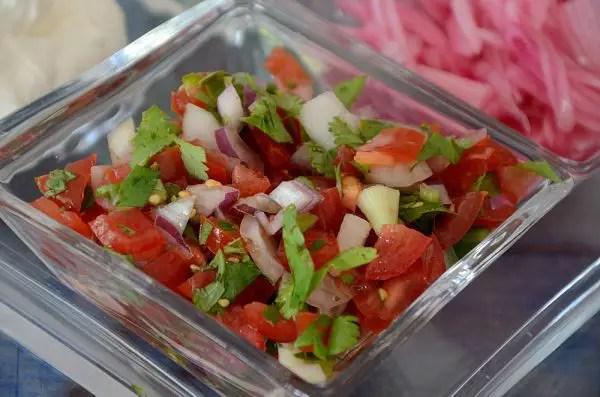 Dish of fresh tomato, onion, cilantro Pico de Gallo