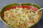 Orzo Corn Salad with Cucumber Feta Dressing