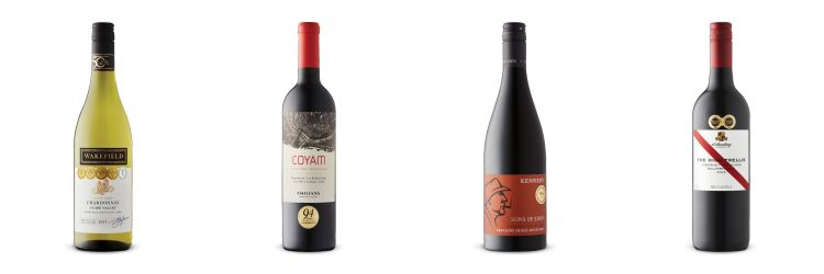 Four wines bottles from LCBO Vintages Release July 20, 2019