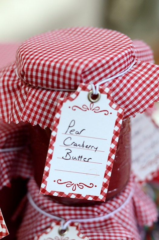 Pear Cranberry Butter