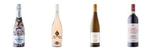 Four wine bottles from wines featured in LCBO Vintages release Feb 8th, 2020