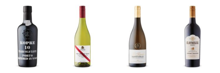 Four bottles of wine from May 2nd, 2020 Vintages LCBO release