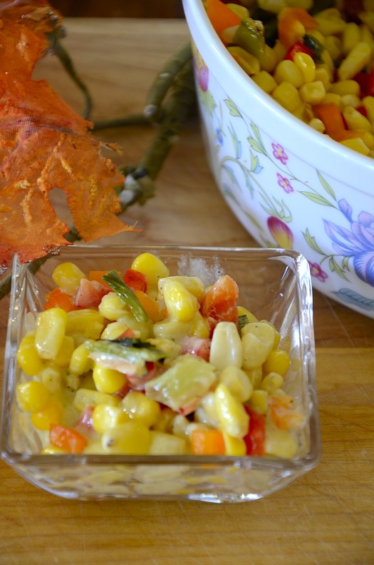 Super Easy Corn Salad With Grilled Green Onions