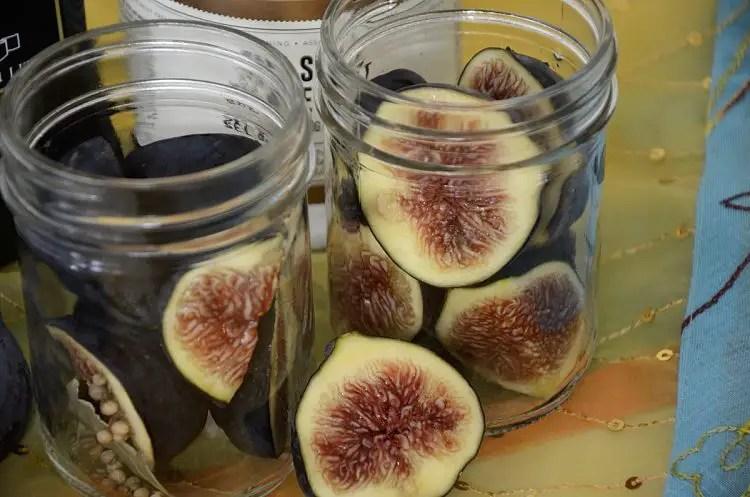 2 half pint jars of figs.