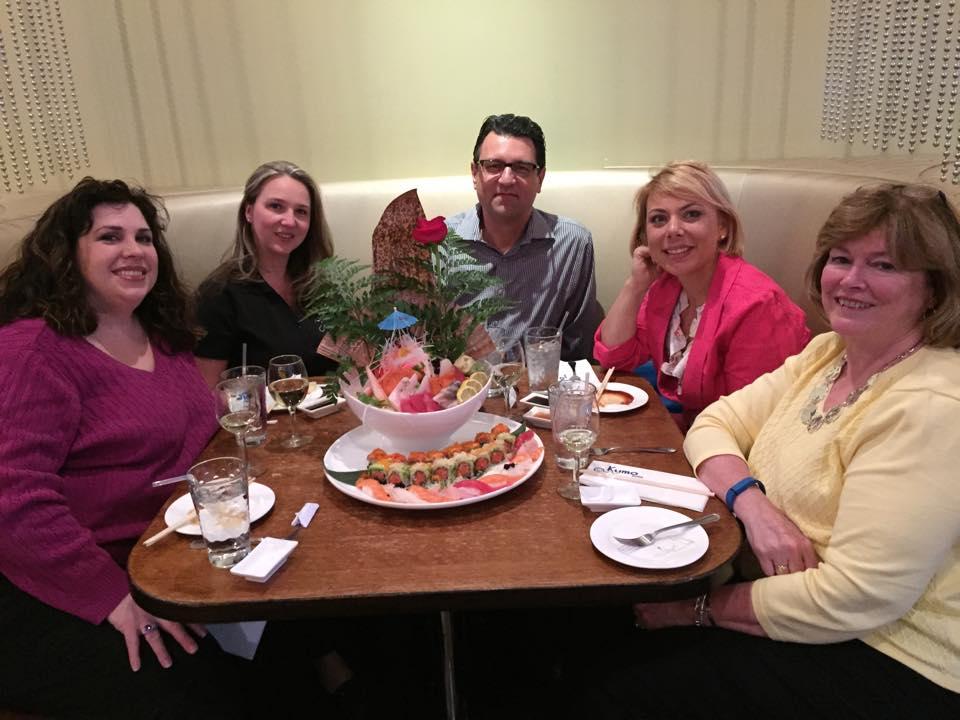 2015 Regionals at dinner