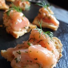 Canapes and Champagne at Texture