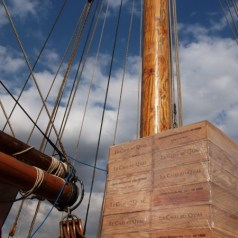 Claret gets to London the old fashioned way – by boat