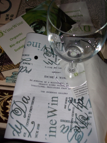 Swine & Wine menu