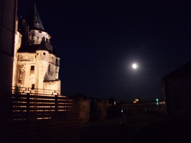 full moon over Saumur