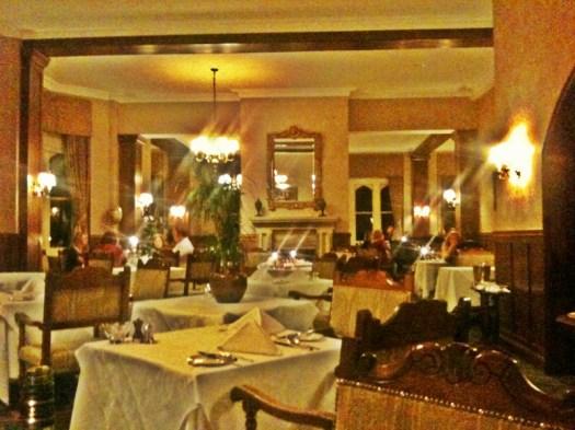 dining room of Ashdown Park