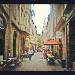 medieval street of Bordeaux