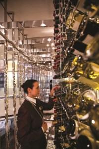 wall of wine onboard