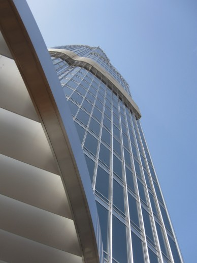 looking up from the 124th floor