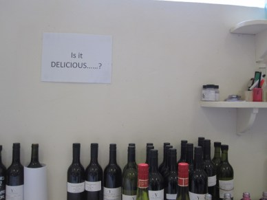 every winery lab should have this sign...