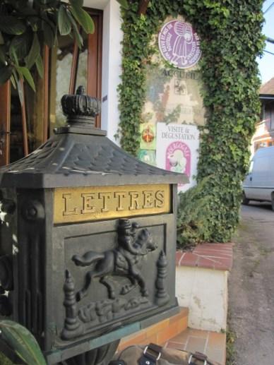 tasting room letter box
