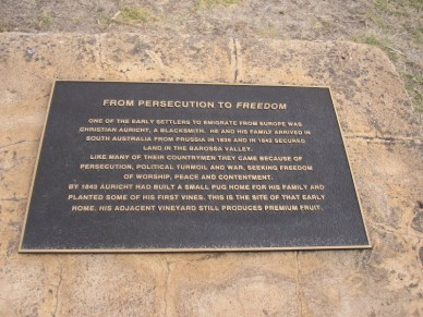 Freedom plaque