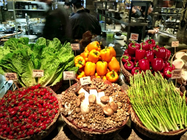 fresh vegetables at Novikov