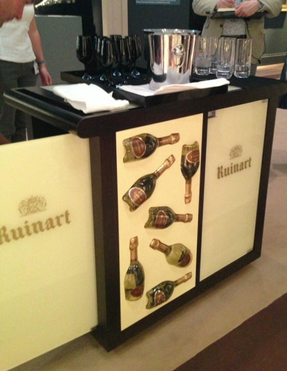 champagne trolley that followed us on the tour