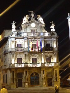 town centre, Pamplona at night