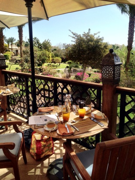our breakfast spot at the Arabesque restaurant, where we went every morning