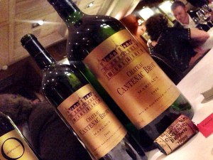 2000 Chateau Cantenac Brown and the 1999 double magnum