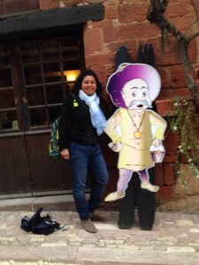 Hanging out with the Pope's mustard maker, Collonges la Rouge