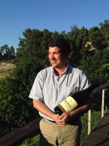 Luiz Cerdeira and a magnum of the rose