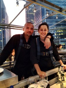 Chef Xavier Boyer and his sous chef
