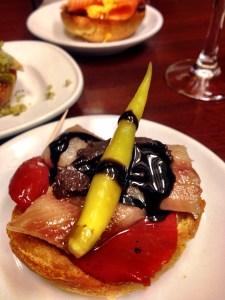 sardines and smoked tomato