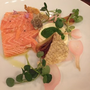 salmon sous vide at Cuisson Supperclub